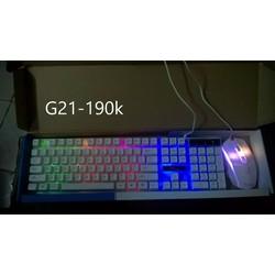 bàn phím và chuột led g21 giá rẻ