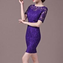 Đầm ren cao cấp Purple quyến rũ