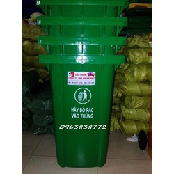 Thùng rác nhựa 240L xanh lá
