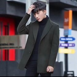 Áo khoác dạ nam, kiểu dáng măng tô