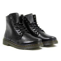 Giày cao cổ nam Dr men DR-896 Đen trơn