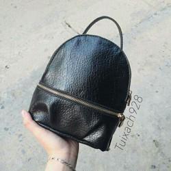 Balo Zaza Da sần trơn màu đen mềm hàng cao cấp loại 1 giá rẻ nhất