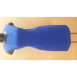 Đầm công sở,sát nách,màu xanh coban,có túi đủ size S,M,L,XL