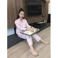 Bộ Pyjama về bảng màu hoạ tiết