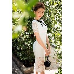 Đầm body ren dễ thương Ngọc Trinh