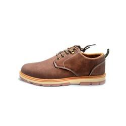 Giày nam da bò nâu đậm - phong cách bụi bặm