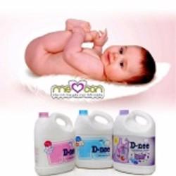 Dung dịch giặt xả quần áo em bé Dnee 3000ml Tím