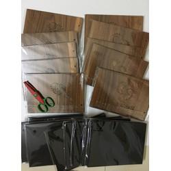 Sổ bìa gỗ album làm scrapbook tặng kèm 1 miếng dán giữ ảnh