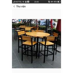 bộ bàn ghế gỗ nhà hàng quán ăn giá rẻ