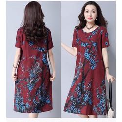 Đầm suông hoạ tiết big size