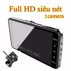 Camera hành trình oto cao cấp FUll HD, 2 camera Tặng thẻ 32GB