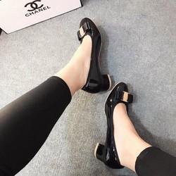Giày cao gót nữ | Giày Salvatore nơ gót vuông