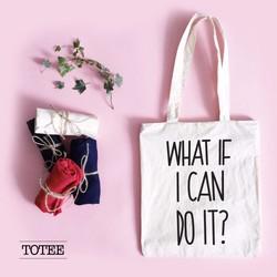 Túi Tote What i f i can do it - Mua 2 túi tặng 1 túi.^^!