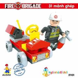 Đồ chơi lắp ráp xếp hình Ausini Sở cứu hỏa 21101