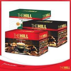Combo 3 hộp Cà phê hoà tan The Hill-Đỏ xanh đen