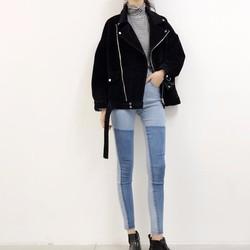 quần skinny jeans phối màu Mã: QD1628