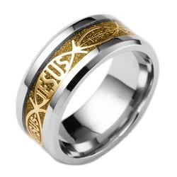 Nhẫn nam vàng khắc chữ Jesus độc đáo