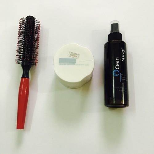 combo sáp vuốt tóc colonna + xịt tạo phồng ocean spay + lược tròn
