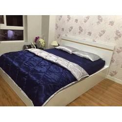 Trọn bộ ga giường phi lụa Thái Tuấn có chăn giá rẻ