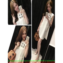 Đầm suông sát nách đơn giản trẻ trung và dễ thương DSV189