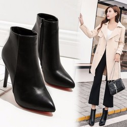 Boot nữ cổ ngắn cao gót đơn giản