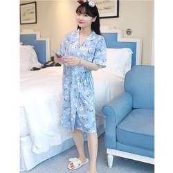 Áo ngủ kimono hoa dễ thương kín đáo 3 màu TK1028