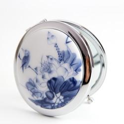 Gương trang điểm gốm sứ hoa sen