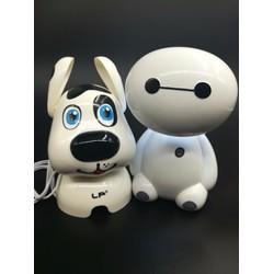 Bộ đôi loa con chó máy tính và đèn để bàn tích điện siêu sáng