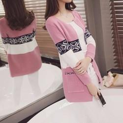 Áo len đà lạt from dài  họa tiết nổi bật