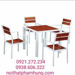 bàn ghế gỗ nhà hàng quán ăn giá rẻ