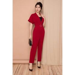 jump dài đỏ áo lót thun đen kèm belt