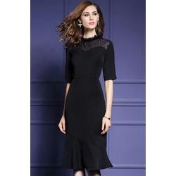com bo váy len đen