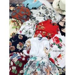 Set bộ hoa giả đầm quần short hàng thiết kế! MS: S101105 Giá sỉ: 105k