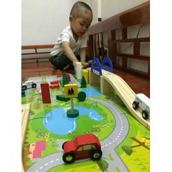 Bộ mô hình giao thông bằng gỗ cho bé