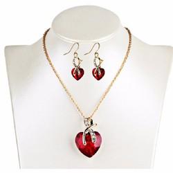 Bộ trang sức hình trái tim - VK038
