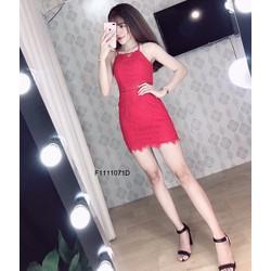 Đầm body ren cổ yếm hàng thiết kế! MS: S111137 Giá sỉ: 170K