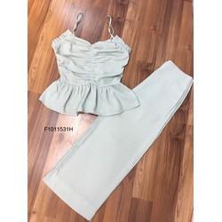 Set áo nhúng quần lửng ống loe hàng tk! MS: S101112 Giá sỉ: 135k