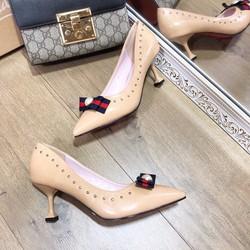 giày cao gót nữ phối nơ cực đẹp