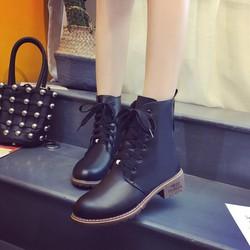 Giày boot nữ thắt dây thể thao