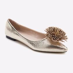 Giày búp bê Mirabella đính tua rua 100 màu vàng