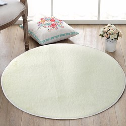 Thảm lông trắng tròn cho phòng ngủ, phòng khách