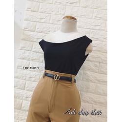 Set áo thun lệch vai quần dài hàng thiết kế! MS: S101117 Giá sỉ: 180K