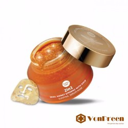 Mặt nạ ngủ vàng Cathy Doll 2in1 Snail Honey Ginseng with Gold