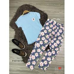 Set áo thun tag 7 quần dài kaki hàng tk MS: S101150 Giá sỉ: 115K