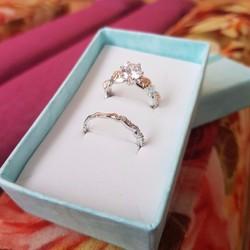 Cặp nhẫn đôi Nữ thời trang Kim Cương G3