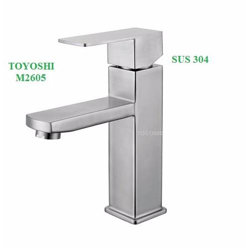 Vòi lavabo nóng lạnh TOYOSHI inox 304 - 10494913 , 7711600 , 15_7711600 , 1000000 , Voi-lavabo-nong-lanh-TOYOSHI-inox-304-15_7711600 , sendo.vn , Vòi lavabo nóng lạnh TOYOSHI inox 304