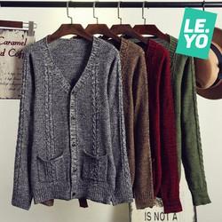 áo len nam cardigan chất lượng cao
