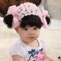 Băng đô tóc mái bé gái