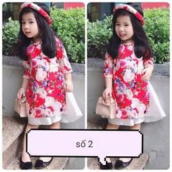 áo dài cách tân cho bé gái- kèm chân váy
