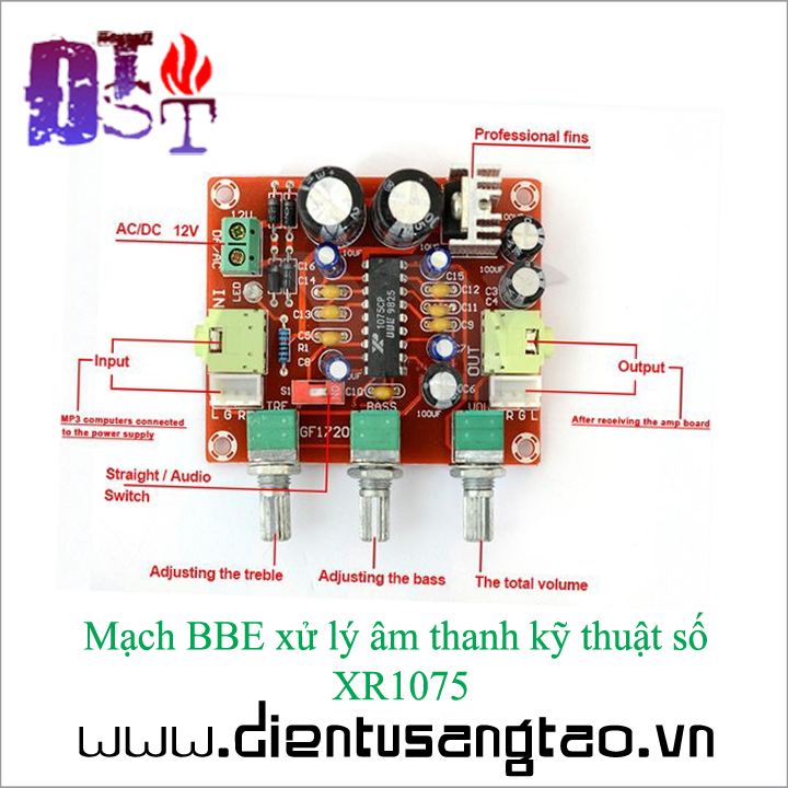 Mạch BBE xử lý âm thanh kỹ thuật số XR1075 3